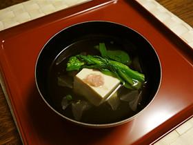 桜のあんかけ豆腐