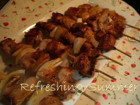 豚ヒレ肉と新たまねぎのゴマみそ豚串