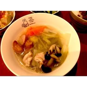 ウインナーが美味しい鶏塩スープ