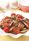 椎茸とトマトのオリーブオイル炒め