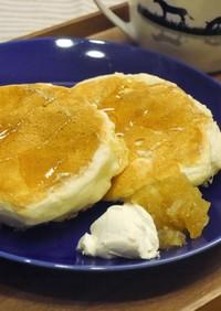 卵白消費★ホケミで簡単ふわふわパンケーキ