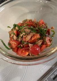 トマトとツナの和えもの