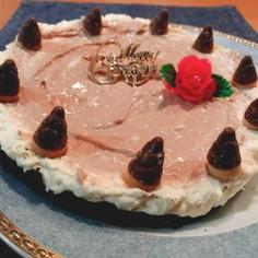 ココアレアチーズケーキ★