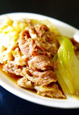 豚こま・白菜・白ねぎ★すき焼き風煮。