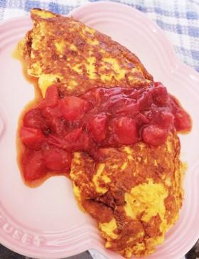 ブッフェで食べられるトマトオムレツ