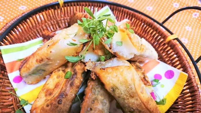 餅とチーズの餃子レシピ写真