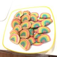 虹のアイスボックスクッキー