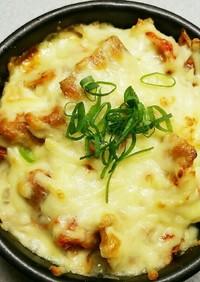 厚揚げのキムチーズ焼