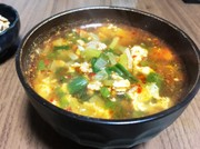栄養満点 辛旨食べるスープの写真