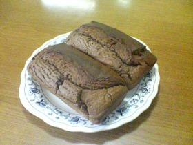 混ぜて焼くだけ!豆腐チョコパウンドケーキ