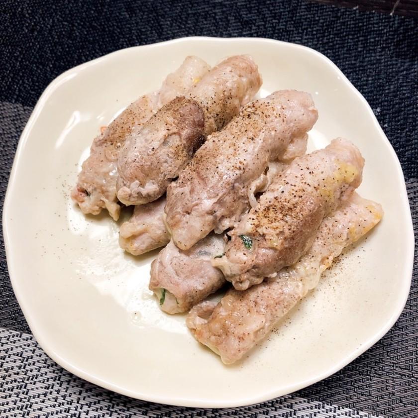 安い肉もジューシー!豚肉大葉チーズ巻き