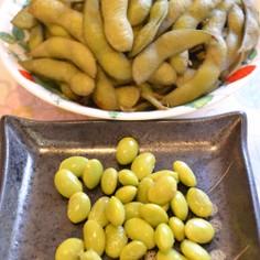 栄養を逃さない枝豆の作り方♪