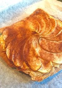 食パンでアップルパイ風(カスタード入り)
