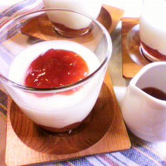 マシュマロチーズムース ~黒酢ソース~