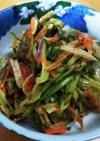余り野菜のさっぱり和風ソムタム