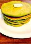 栄養いっぱい緑のホットケーキ