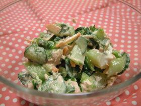 チンゲン菜と大葉のツナサラダ♫♬