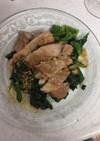 豚肉とほうれん草の生姜ソテー
