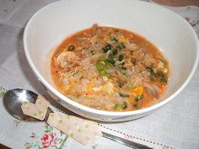 豆乳キム雑炊