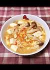 キノコと豆腐の酸っぱ辛味噌汁