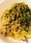 納豆のせ白菜しらすのキムチ風味チャーハン