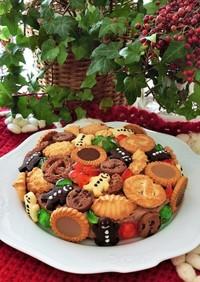 クリスマスケーキ*簡単チョコタルト風