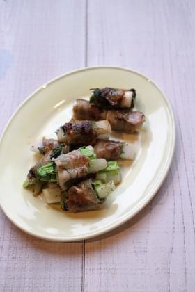 冬野菜の大葉巻き焼き