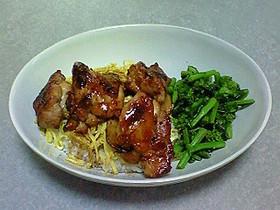 ワンプレートブランチ☆鶏のしょうが焼き丼