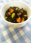 簡単常備菜、ひじきの煮物。