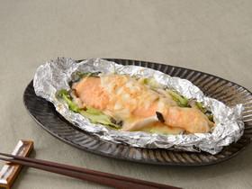 銀鮭のみそチーズホイル焼き