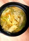 ひとりキムチ鍋。暖まるひとり鍋
