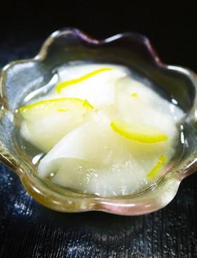おせちに。千枚漬け風☆かぶの柚子甘酢漬け