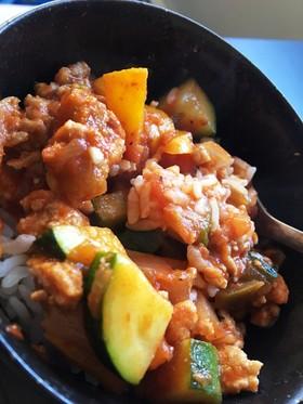 超簡単☆ひき肉と野菜のサルサソース炒め