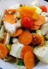鶏肉、豆腐と野菜のバジルペースト炒め