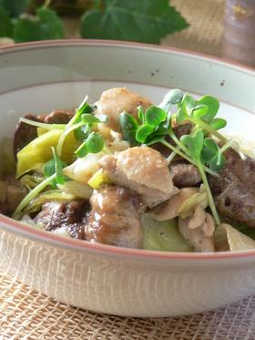 鶏レバーとキャベツの炒め物