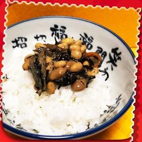 フジッコのひじき煮で納豆ご飯