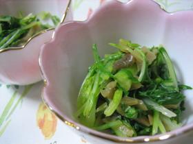 簡単!水菜とザーサイの和え物