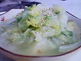 キャベツのネギ塩スープ