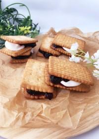 ジャムとマシュマロの♡クッキーサンド