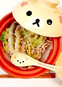 簡単お夜食♡豚肉と白菜のミルフィーユ鍋