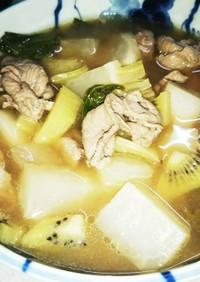 ラムとカブのキウイ煮(血ダ食1324)