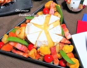 カマンベールのせのせチーズフォンデュ