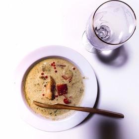 小松菜のポタージュ〜鶏モモとパプリカ♪