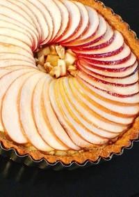 *りんごのアーモンドクリームタルト*