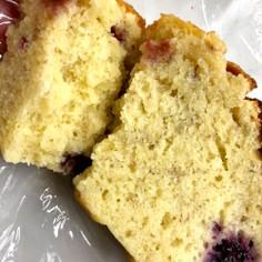 オリーブオイルバナナベリーパウンドケーキ
