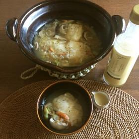生姜と干しえびのスープ雑煮