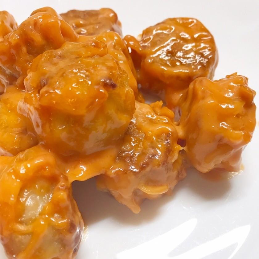 安いチルド焼売で美味し〜エビマヨアレンジ