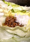 ご飯がススム!納豆炒めレタス包み