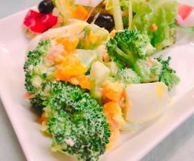 簡単ブロッコリーと半熟卵のツナマヨサラダ