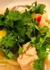 蓮根など!豚肉とパクチー和風レモンスープ